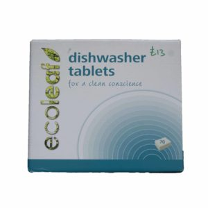 Dishwash tablets front of box