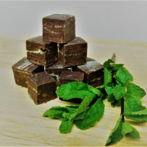 Vegan dark mint choc fudge