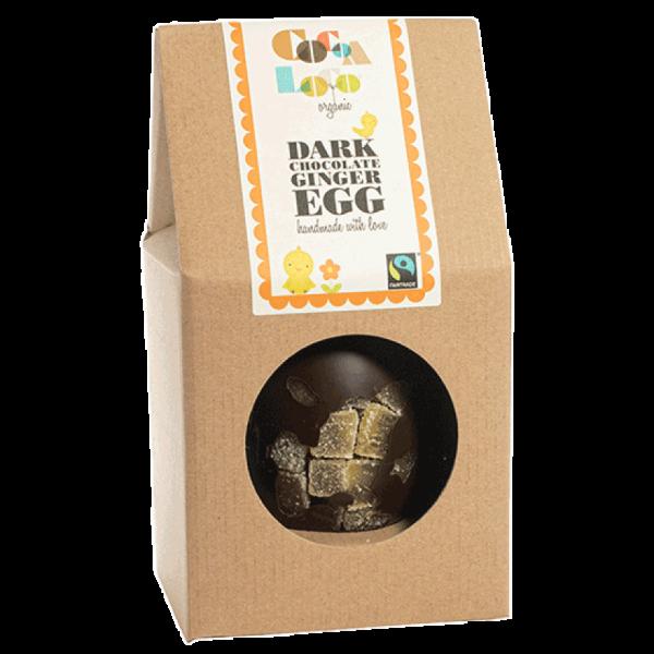 Dark chocolate ginger easter egg